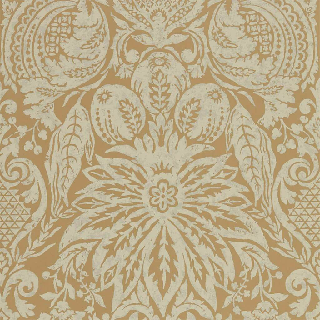Mitford Damask Wallpaper - Platinum Grey - Zoffany