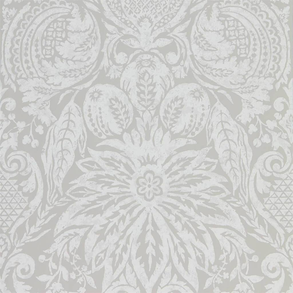 Mitford Damask Wallpaper - Empire Grey - Zoffany