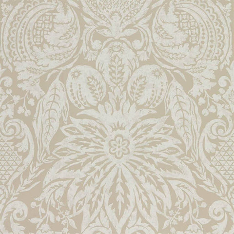Mitford Damask Wallpaper - Antique Gold - Zoffany