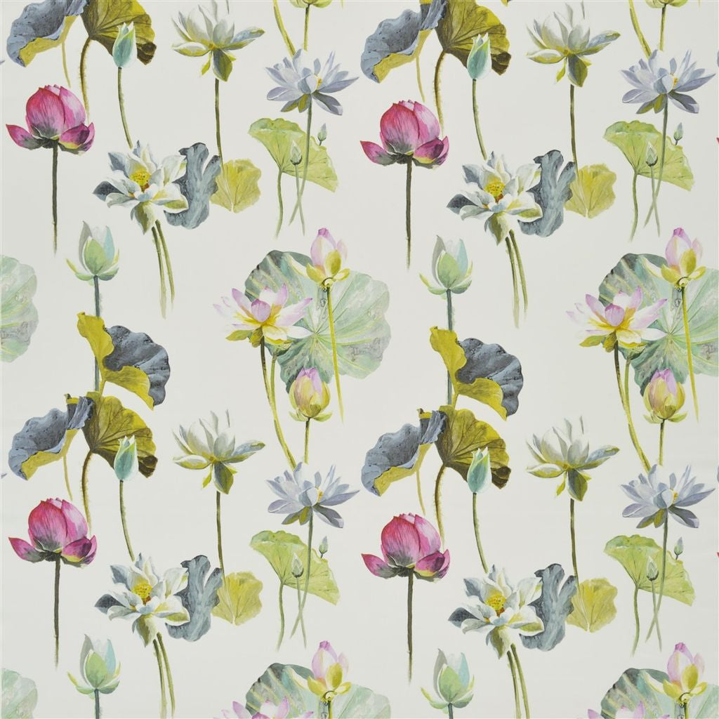 Fleur De Lotus Fabric - Birch - Designers Guild