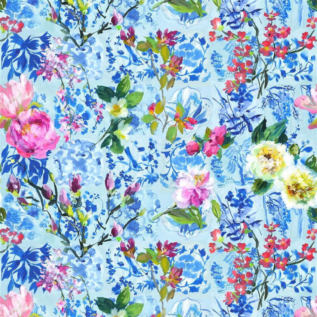 Majolica Wallpaper - Slate Blue - Designers Guild