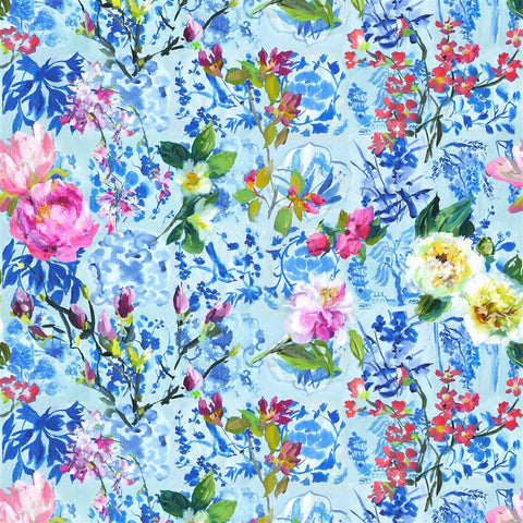 Majolica Wallpaper - Cornflower - Designers Guild