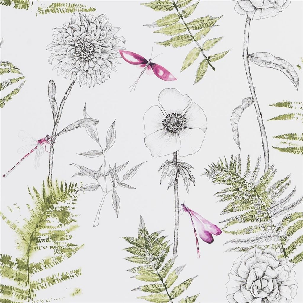 Acanthus Wallpaper - Ivory - Designers Guild
