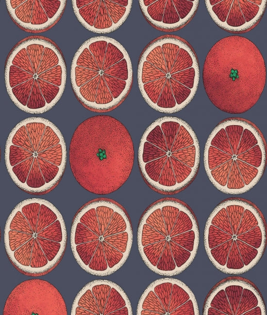 Cole & Son - Arance Wallpaper - Blood Orange
