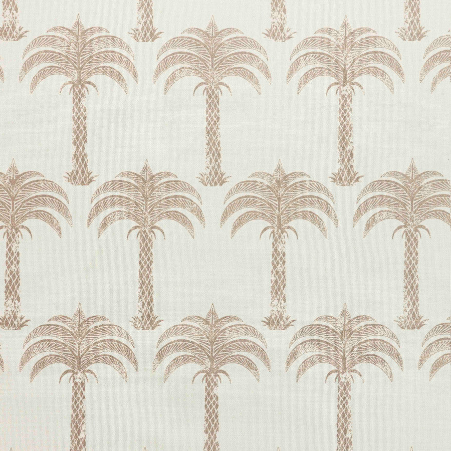 Marrakech Palm Fabric - Gold on Natural - Barneby Gates