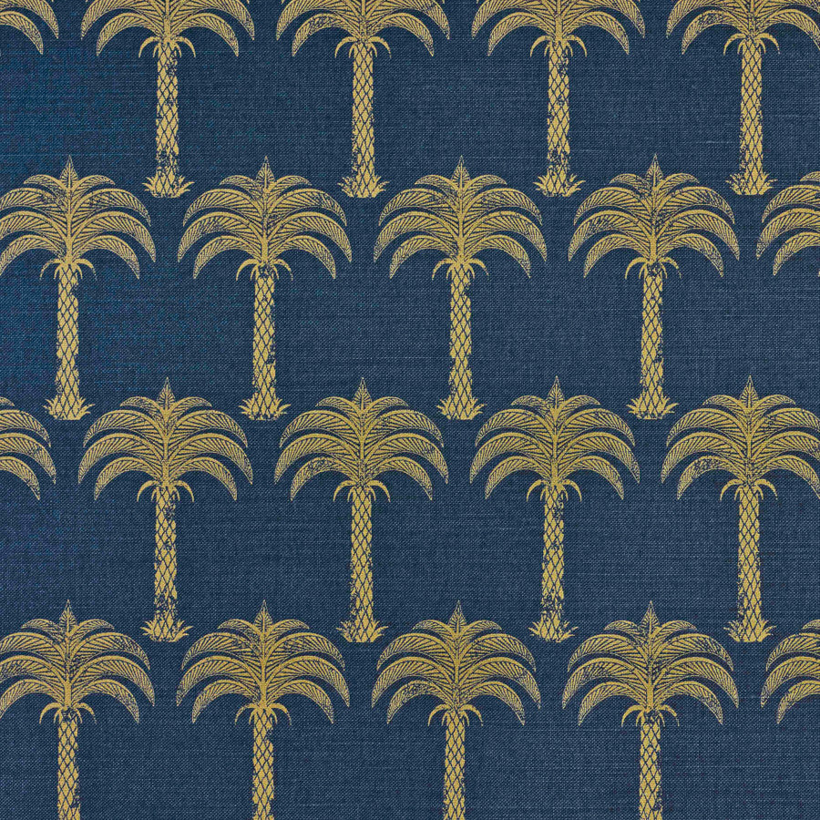 Marrakech Palm Fabric - Soft Gold - Barneby Gates