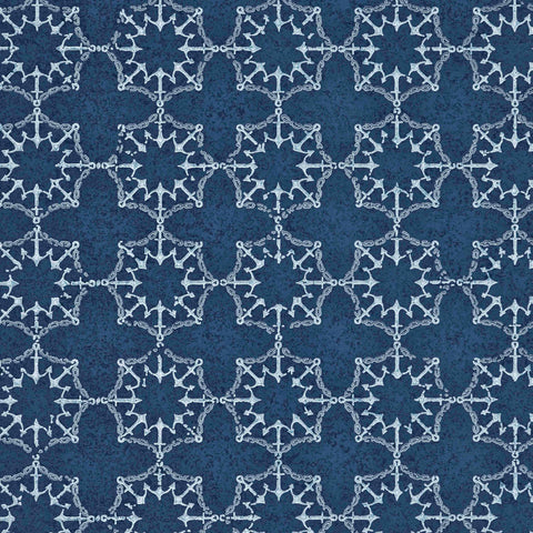 Anchor Tile Wallpaper - Red, White, Blue - Barneby Gates