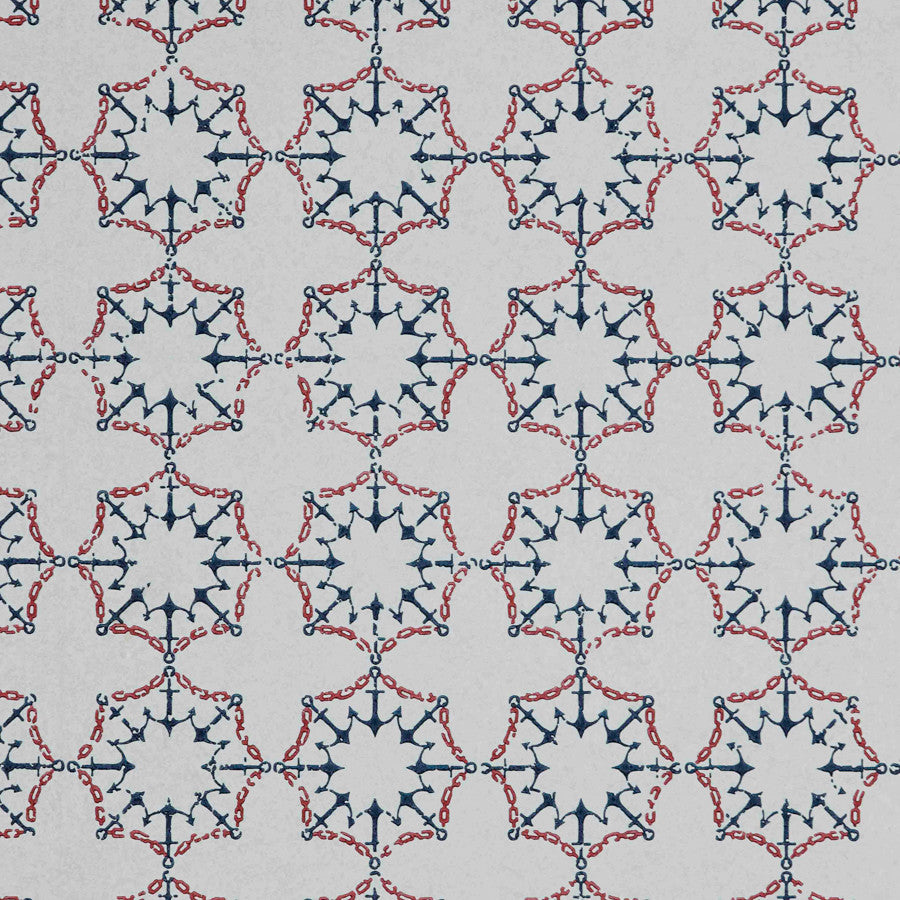Anchor Tile Wallpaper - Marine - Barneby Gates