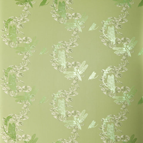 Dragonfly Wallpaper - Pewter - Barneby Gates