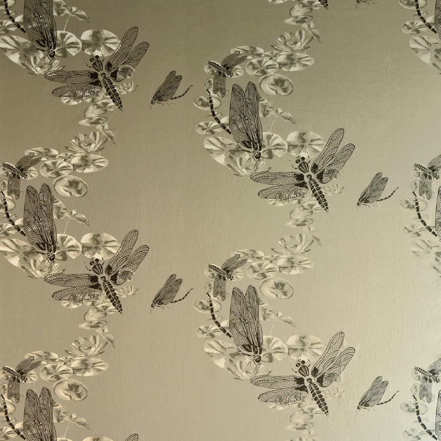 Dragonfly Wallpaper - Apple Green - Barneby Gates