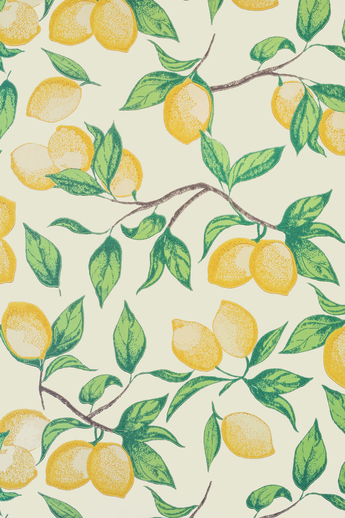 Capri Lemon Wallpaper - Azure - Barneby Gates