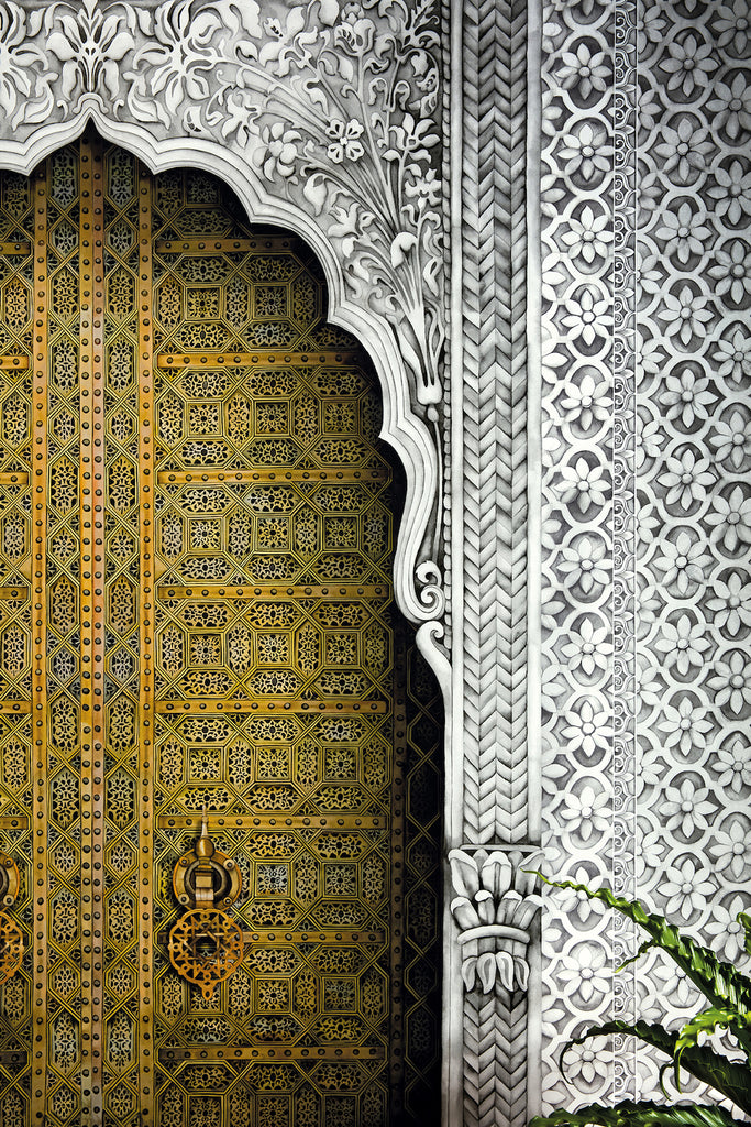 Mister Smith Interiors Cole & Son Bahia Doorway Wallpaper