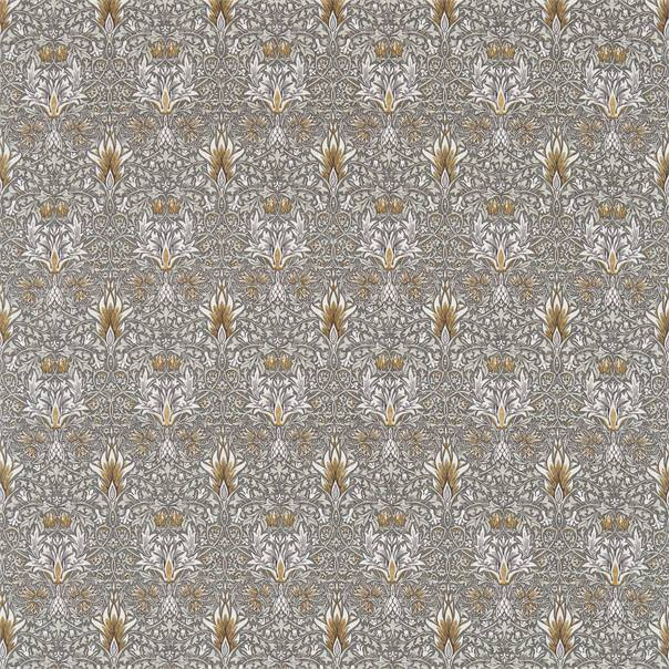 Snakeshead Fabric - Pewter/Gold - William Morris