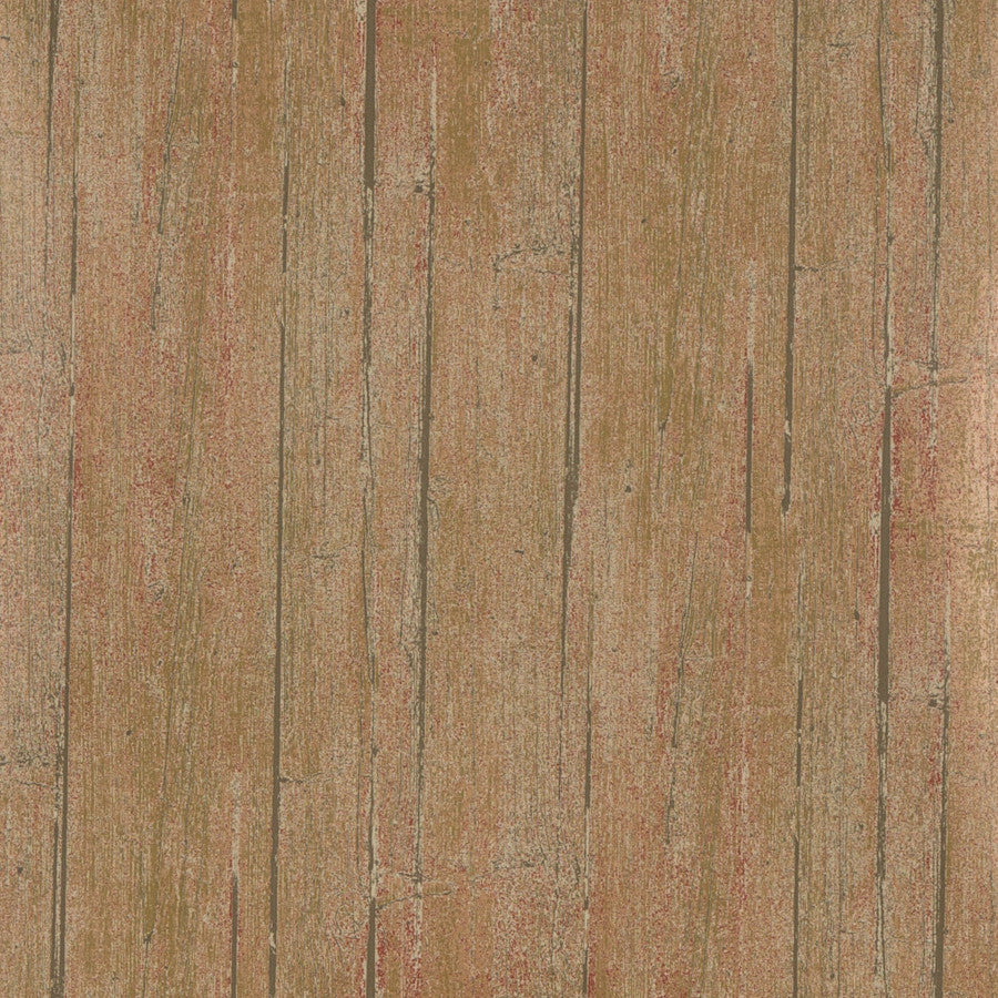 Wood Panel Wallpaper - Rust - Mulberry Home