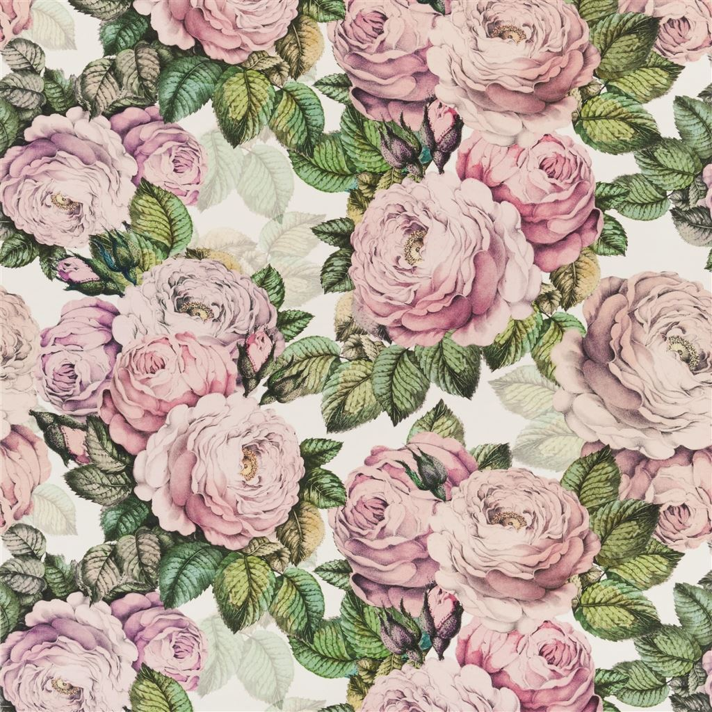 The Rose Fabric - Swedish Blue - Designers Guild