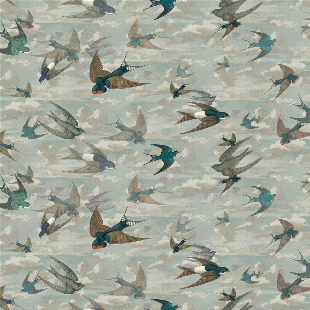 Chimney Swallows Fabric - Designers Guild