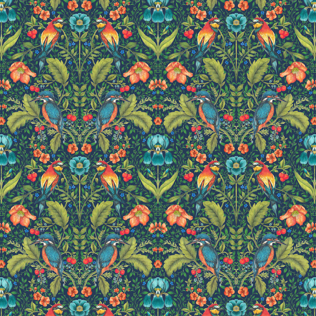 Rodburn Fabric - Hibiscus - Blendworth