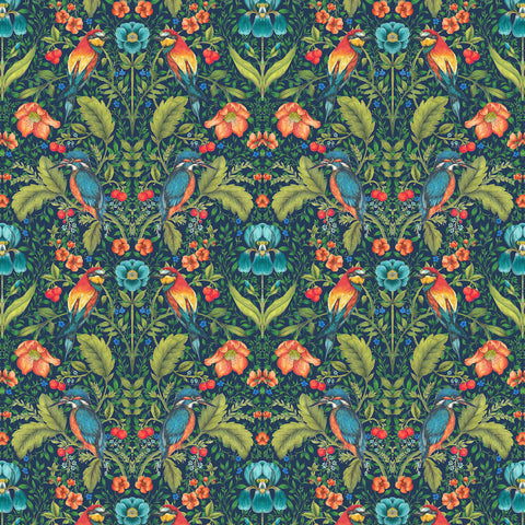 Rodburn Fabric - Paradise Blue - Blendworth