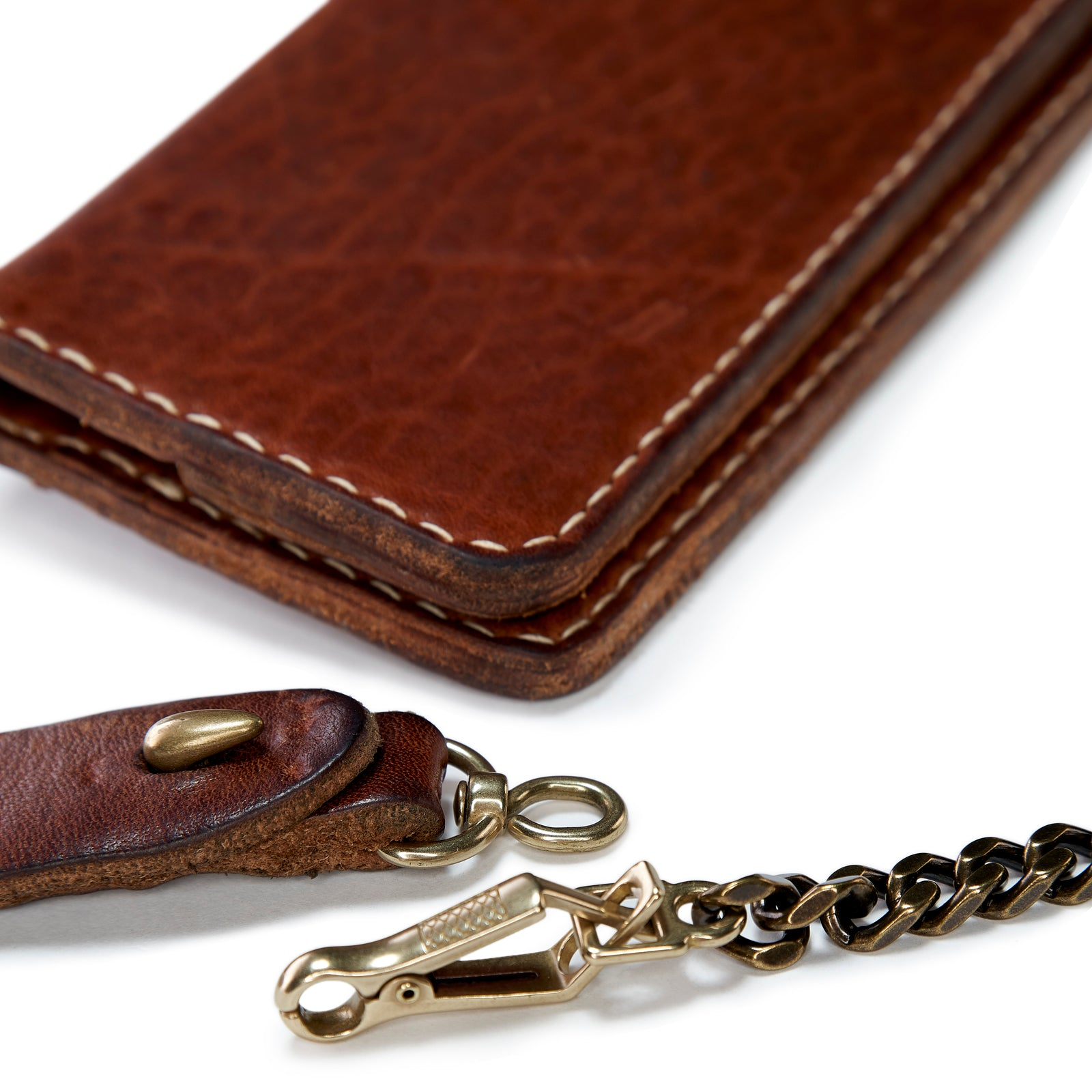 Long Vintage Stone-Washed Wallet (SPECIAL-NO CHAIN)