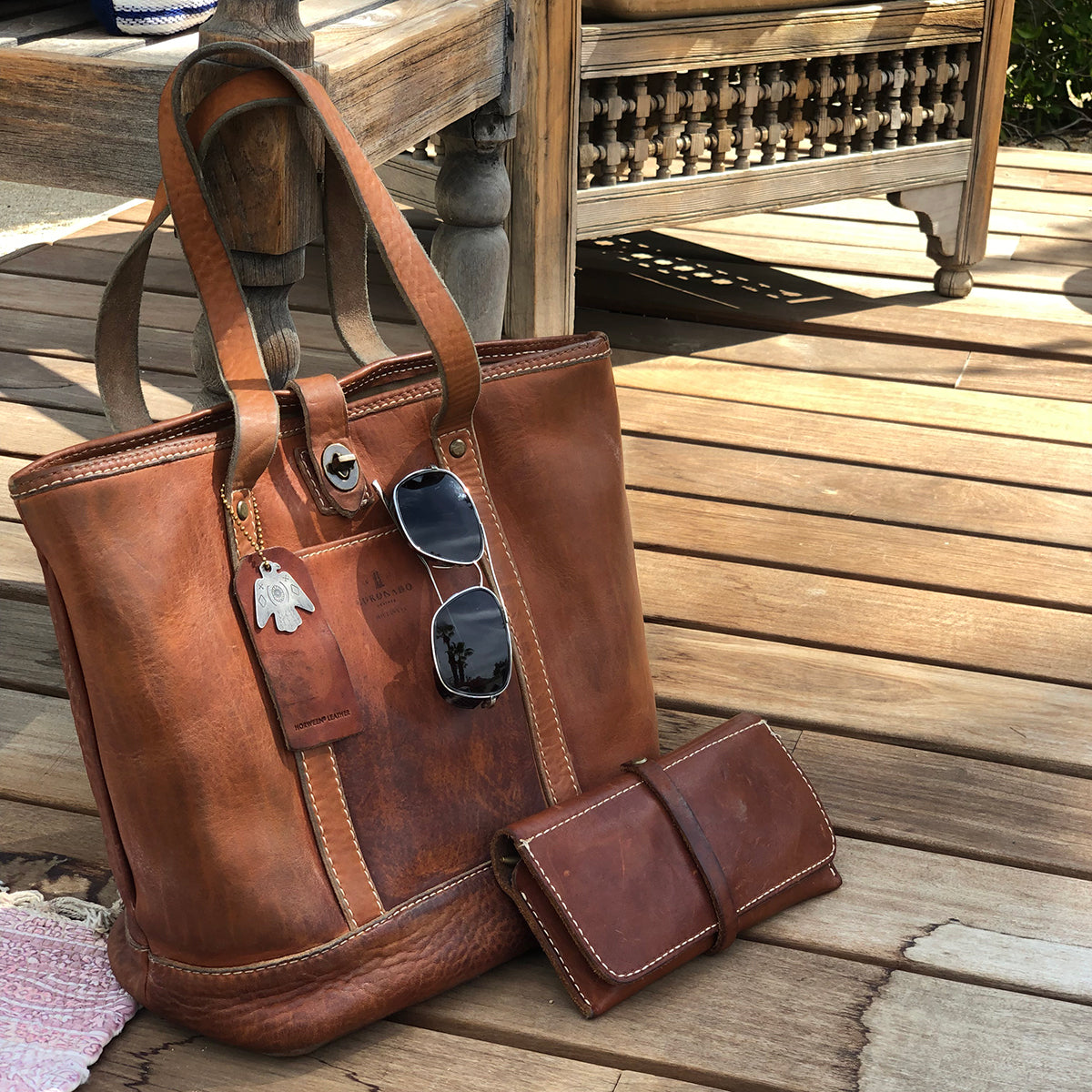 Vintage Stone-Washed Tote No.932