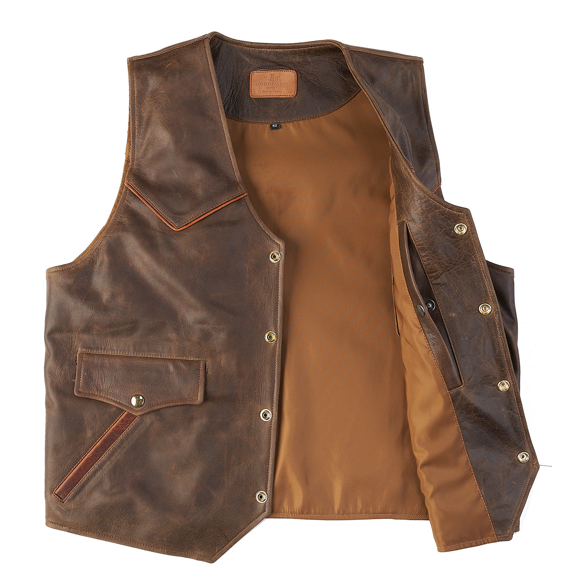 Circle-C Vest | Texas Brown (Closed)