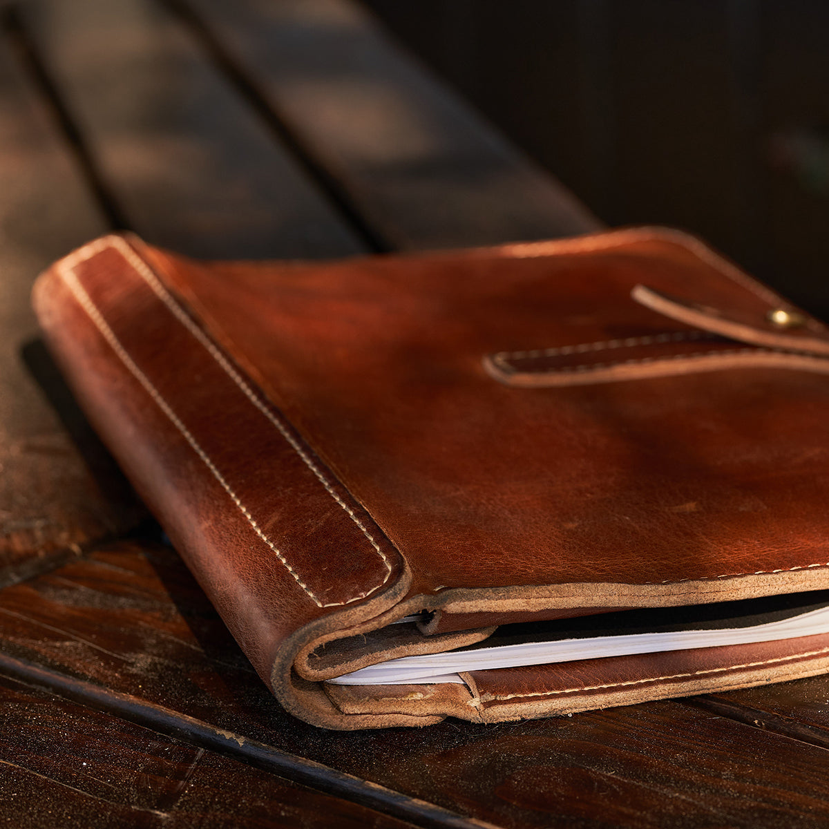 Stone-Washed Executive Folio