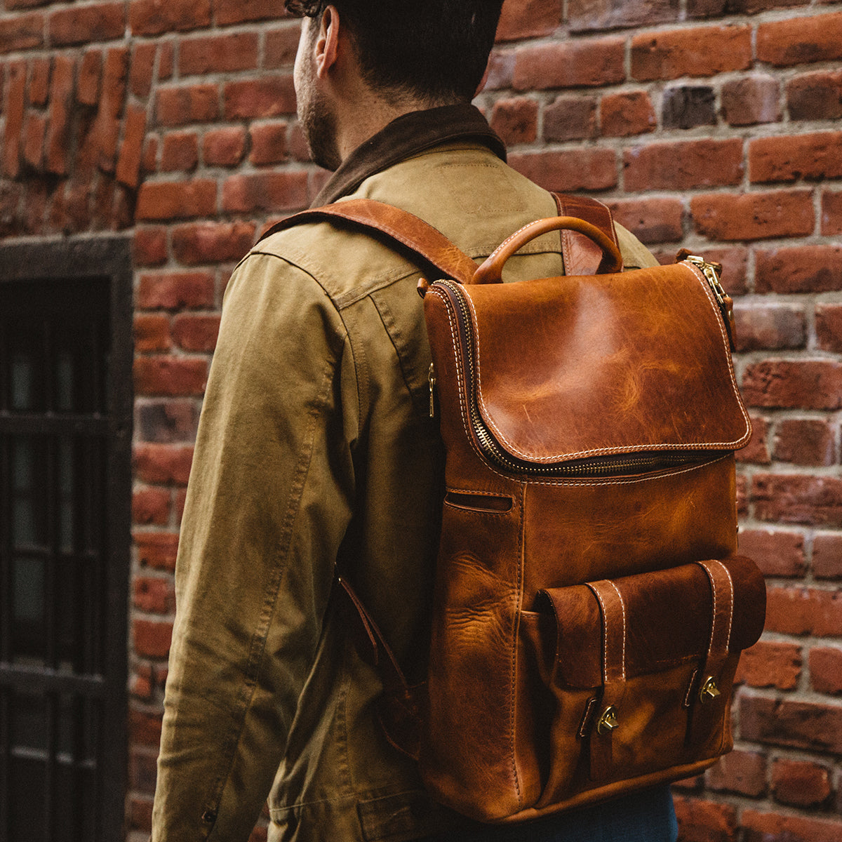 Top Zip Americana Backpack #740