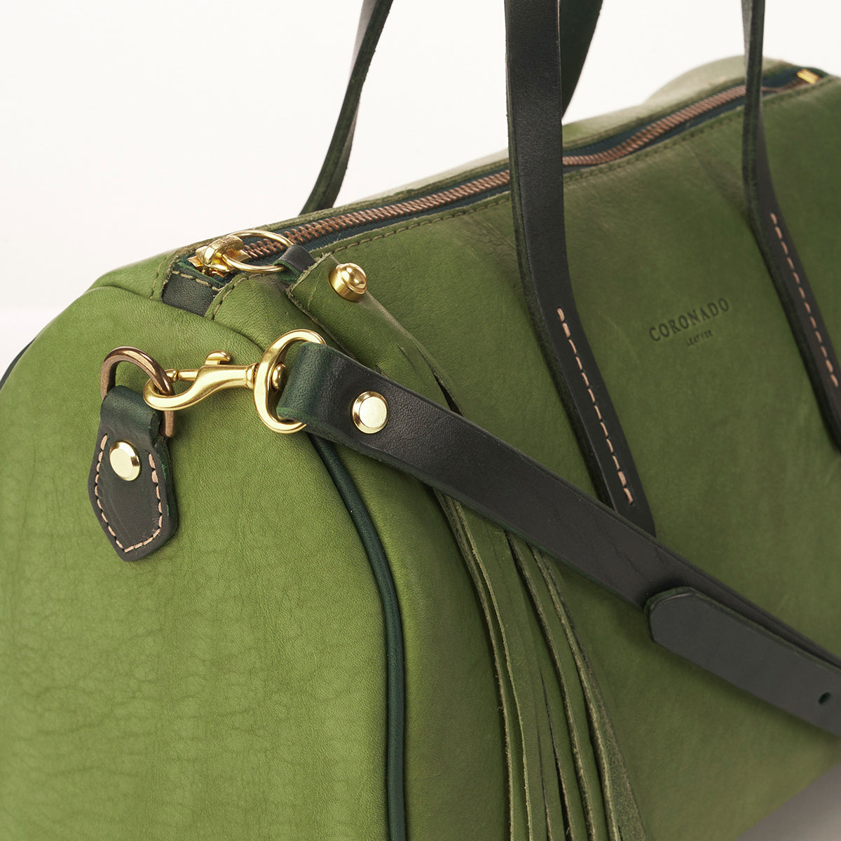 LE Horween Barrel Satchel No. 1910 (Green)