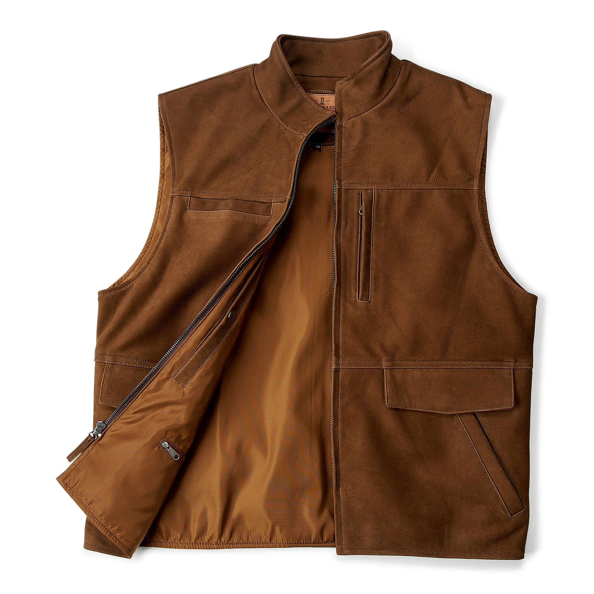 Nubuc Crossroads Vest (Brown)  #209