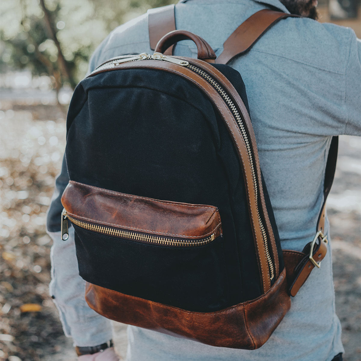 Bison Heritage Canvas Backpack #715