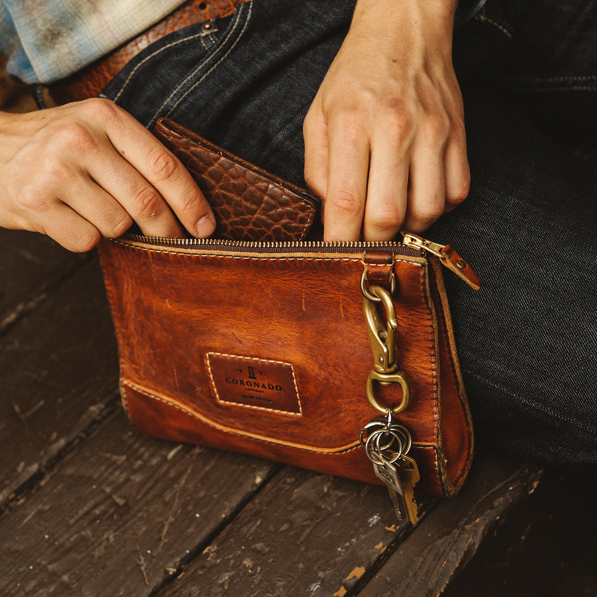 Vintage Stone-Washed Utility Pouch No.194