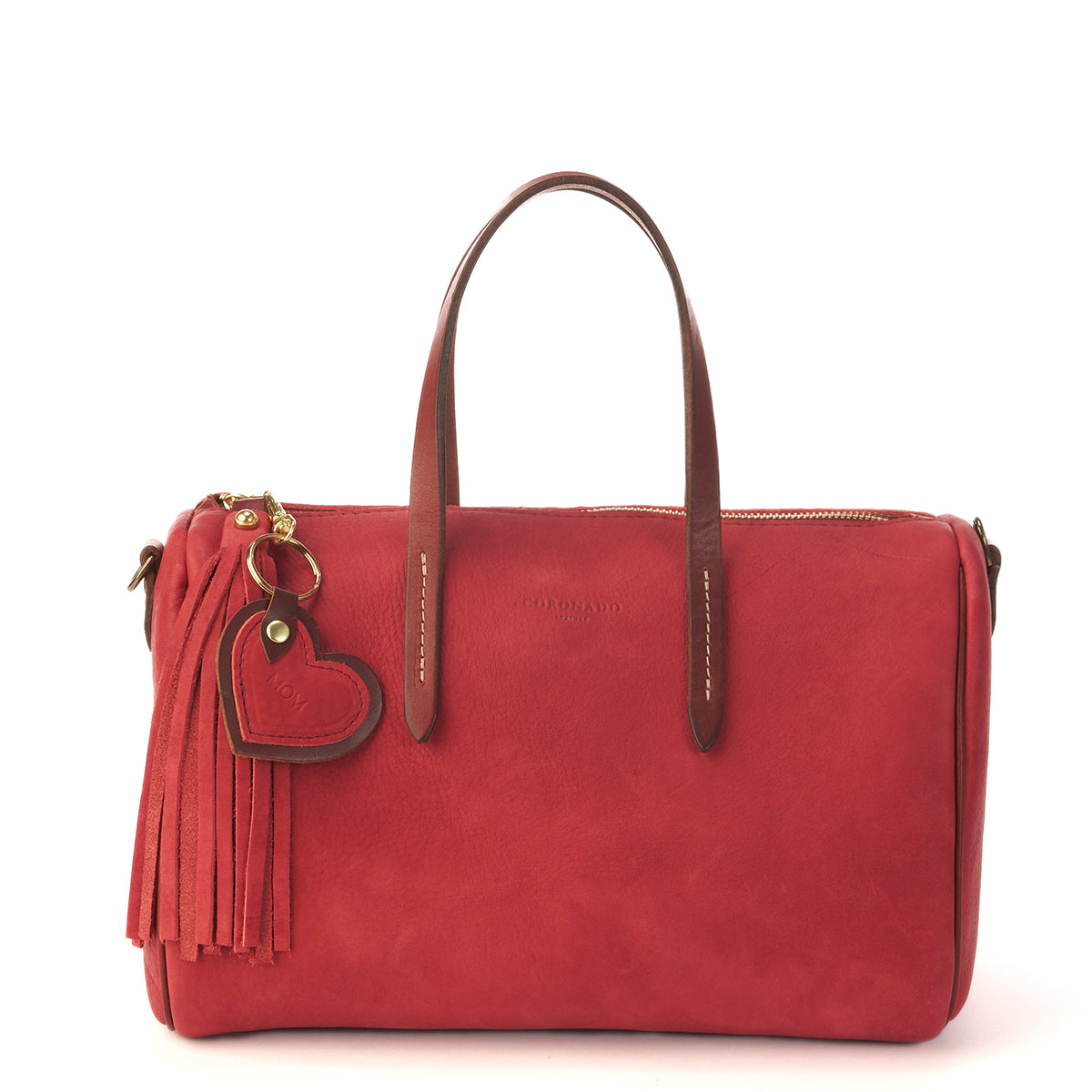 LE Horween Barrel Satchel No. 1910 (Red)