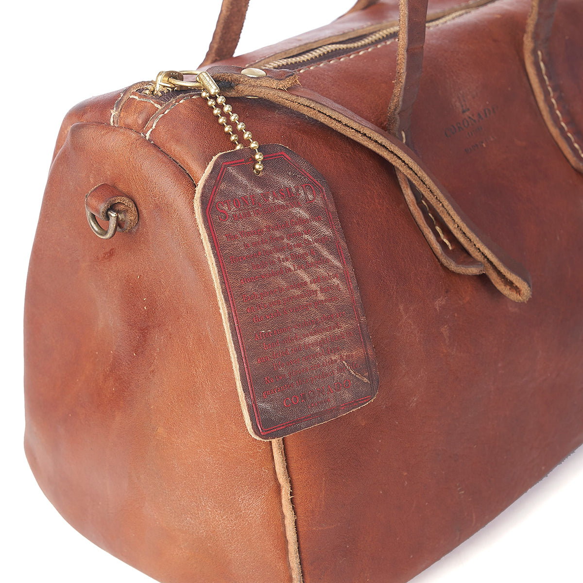 Stone-Washed Barrel Satchel