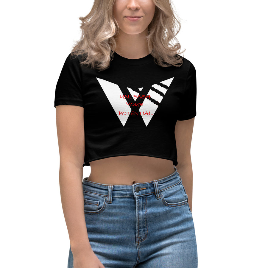 Women's Scrape Logo Crop Top