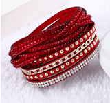 Multilayer Leather Rivet Bracelet Bangles