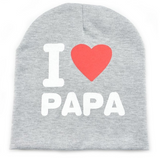 Baby Infant Toddler Cotton Knitted Beanie I LOVE PAPA MAMA - Bullseye Discounts