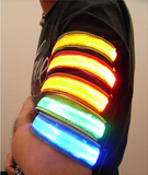 Armband Wristband LED Safety Reflective Light - Bullseye Discounts