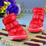 4Pcs Anti-Slip Waterproof Leather Soft Warm Winter Dog Boot Shoes For Small Dogs - Bullseye Discounts