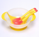 3Pcs/Set Baby Infant Temperature Sensing Learning Tableware Dishes With Suction Cup - Bullseye Discounts