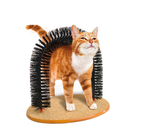 Cat Self-Grooming Scratcher Massage Arch Brush - Bullseye Discounts