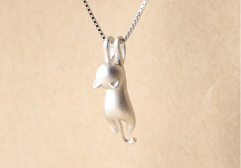 S925 Sterling Silver Cat Necklace - Bullseye Discounts