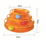 Cat Tower of Tracks Three Levels Balls Pet Toy - Bullseye Discounts