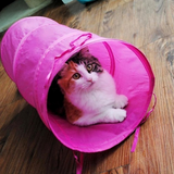 Collapsible Foldable Pet Cat Kitten Tunnel Toy - Bullseye Discounts