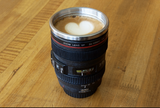 Stainless Steel Camera Lens Shape Cup Coffee Mug - Bullseye Discounts