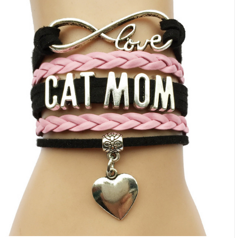 Handmade Infinity Love Cat Mom Bracelet Offer - Bullseye Discounts