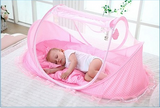 Portable Foldable Baby Infant Bed Crib With Pillow And Mosquito Net - Bullseye Discounts