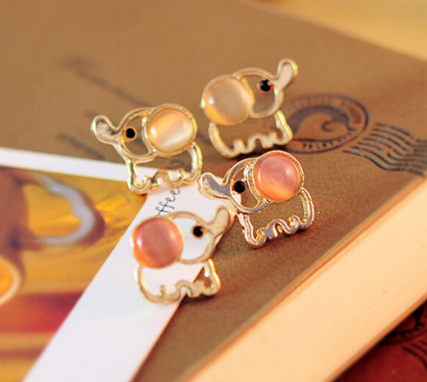 Baby Elephant Opal Stud Earrings - Bullseye Discounts