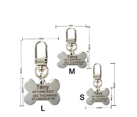 Customized Stainless Steel Pet Dog Tag - Bullseye Discounts