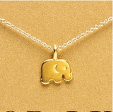 Good Luck Gold Plated Elephant Pendant Necklace - Bullseye Discounts