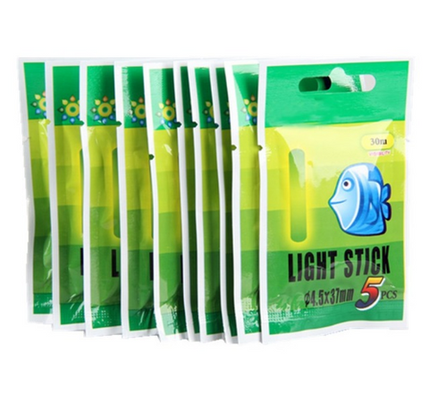 50Pcs 4.5*37mm Fishing Float Fluorescent Light Sticks - Bullseye Discounts